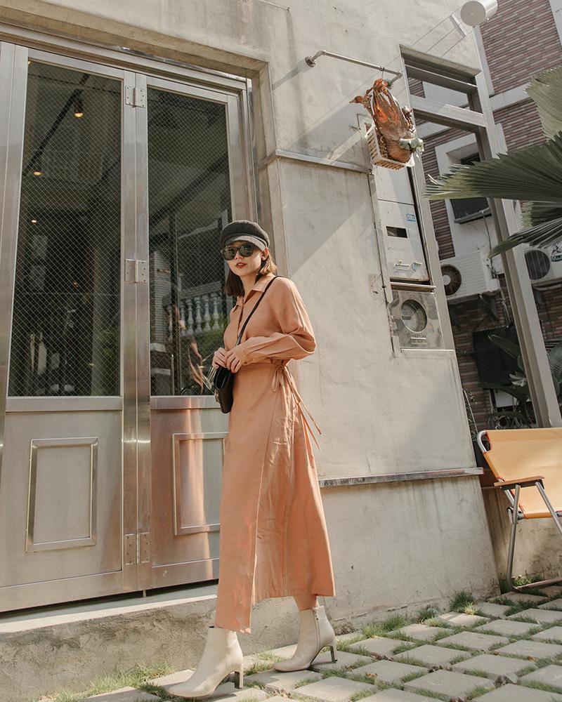 前造型片襯衫洋裝-Mercci22
