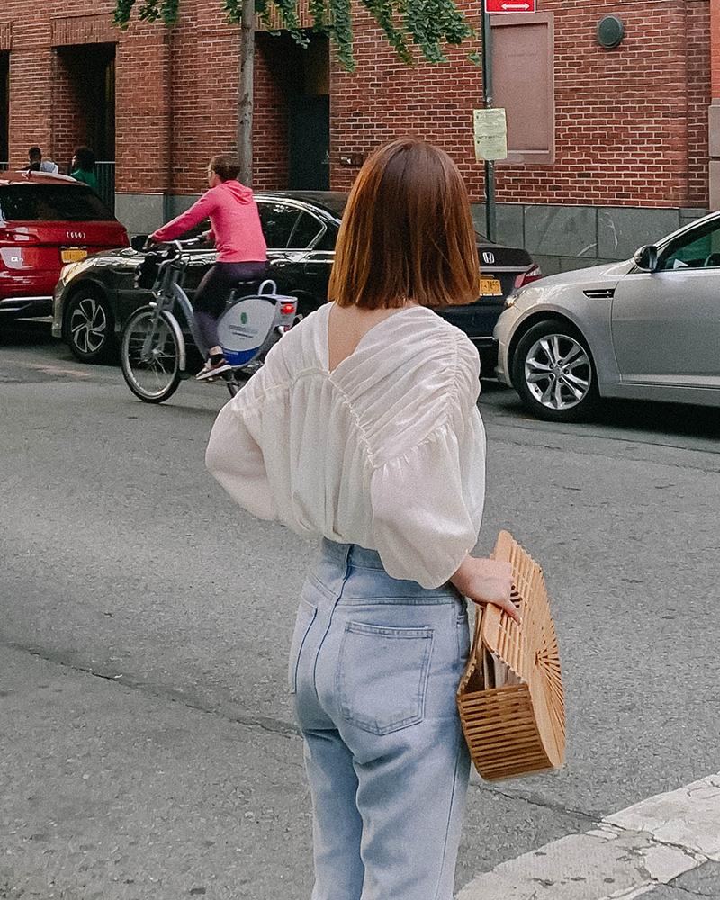 Mercci22+小女人皺褶雪紡上衣