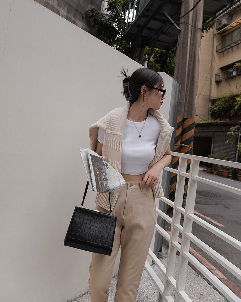 基本羅紋短版上衣(And more)-Mercci22