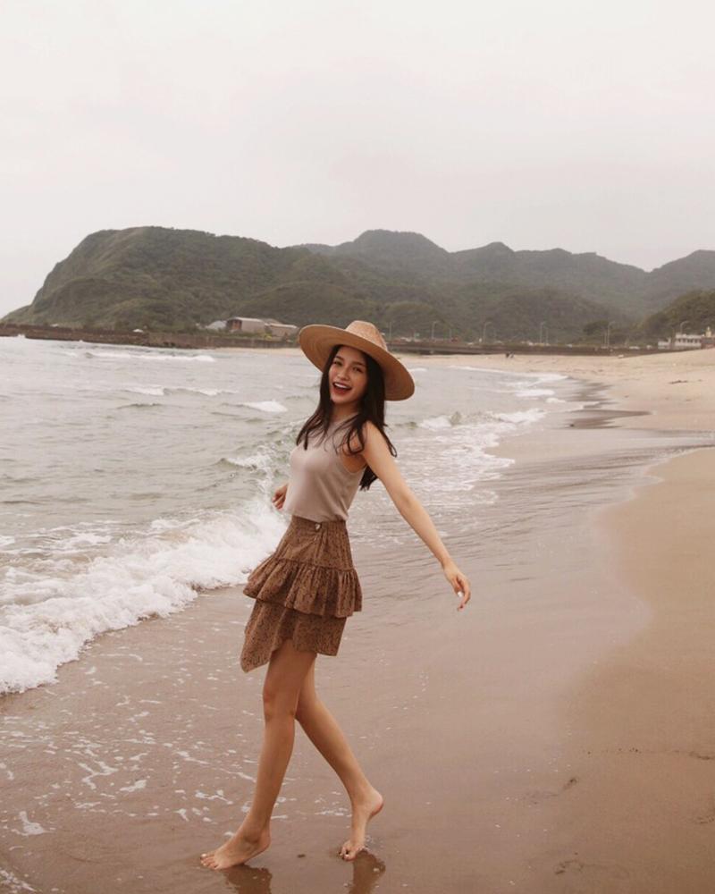 潑墨荷葉造型短裙(Dance bohemia)-Mercci22